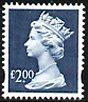 £2 dull blue