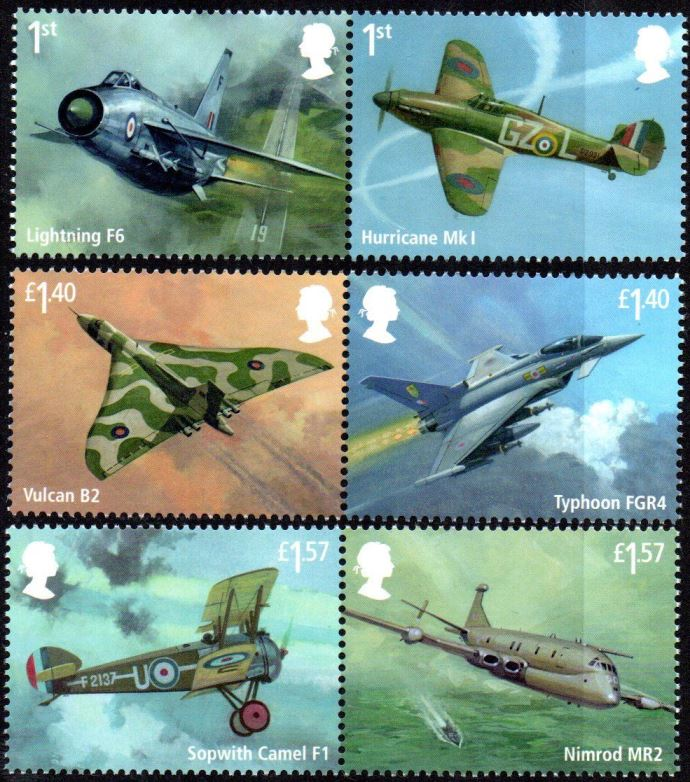 2018 GB - SG4058-63 - RAF Centenary 100 Years of RAF Set (6) MNH
