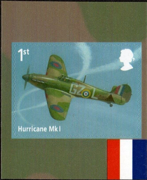 2018 GB - SG4065 - RAF Centenary Hurricane Mk1 SA from PM59 MNH