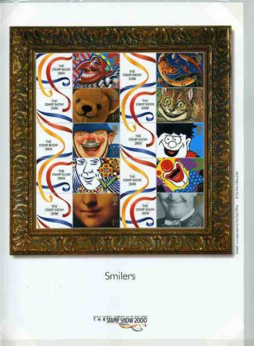"2000 GB - LS1 - ""Stamp Show 2000"" Greetings Smiler - Bends (10)"
