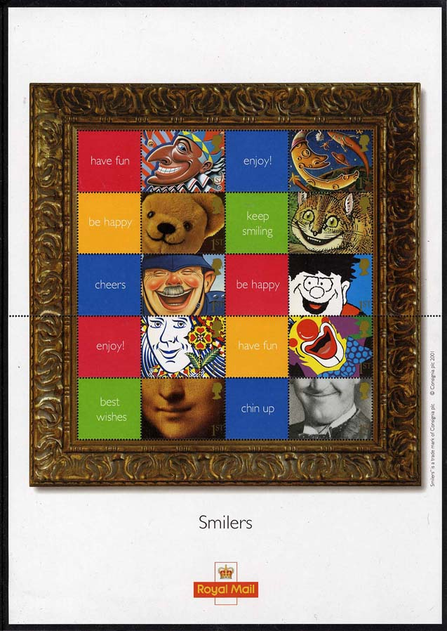 "2001 GB - LS5 - ""Smiles"" Smiler Sheet (20) **Tiny Bends **"